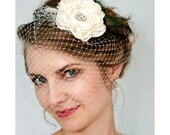 Vintage inspired French blusher and hair flower pin - 2 items