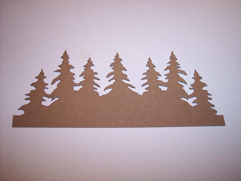 Kiefer Baum Grenze Die Cut 4er-set | Etsy