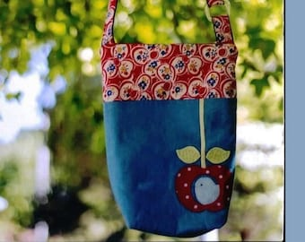e08d97151035 Handmade fabric bag applique small tote bag 36cm x 23cm suit adult or child  - pattern only