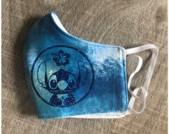 Stitch Glitter Mask with Elastic
