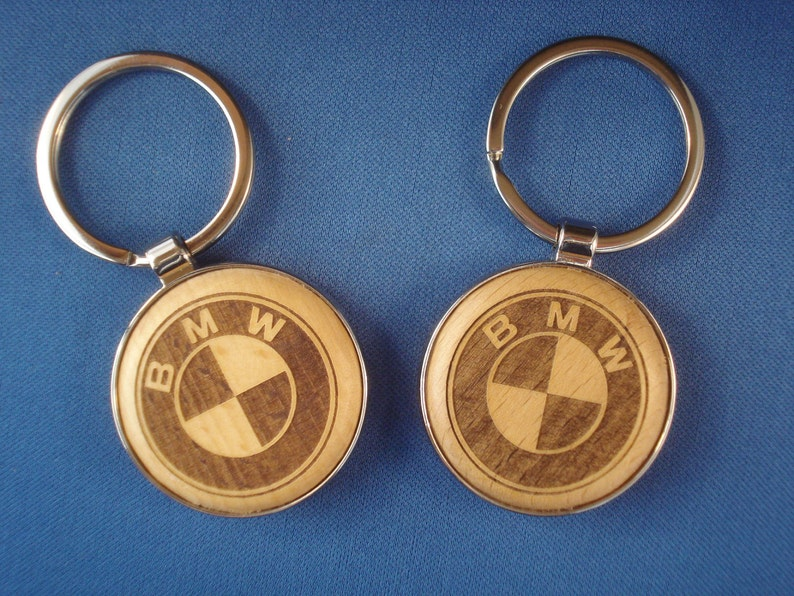 Wood Key Chain for BMW Lovers  Laser Engraved .  Great image 0