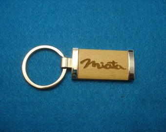 MAZDA MIATA KEYCHAIN - Laser Engraved Wood Key Chain.  Great Birthday Gift or New Car Gift for the Miata Driver!
