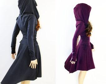 Dress , Grey Dress, Casual , Day Dress ,Low High Dress, Women Dress