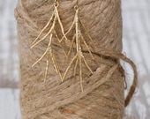 Bridesmaids Earrings: Gold filled Branch Earrings | Earth Inspired | Gold Branch Earrings | Gold Earrings | Bridal Earrings | Bridesmaid