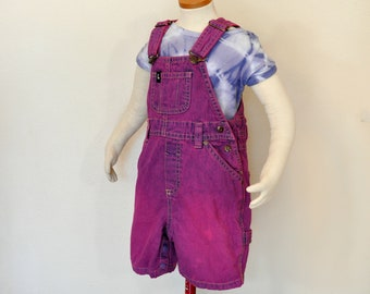 Fuchsia Pink Toddler Old Navy Cotton Overalls Baby Boy Girls Size 18-24 Months 22 Waist x 10 L Pink Kids 18-24 Mo Bib OVERALL Pants
