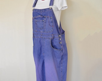 1166a60a3a0 Purple 22W XL Bib OVERALL Pants - Lavender Violet Dyed Upcycled ReVolt  Cotton Denim Overalls - Adult Womens Sz Extra Large (44 w x 29L)