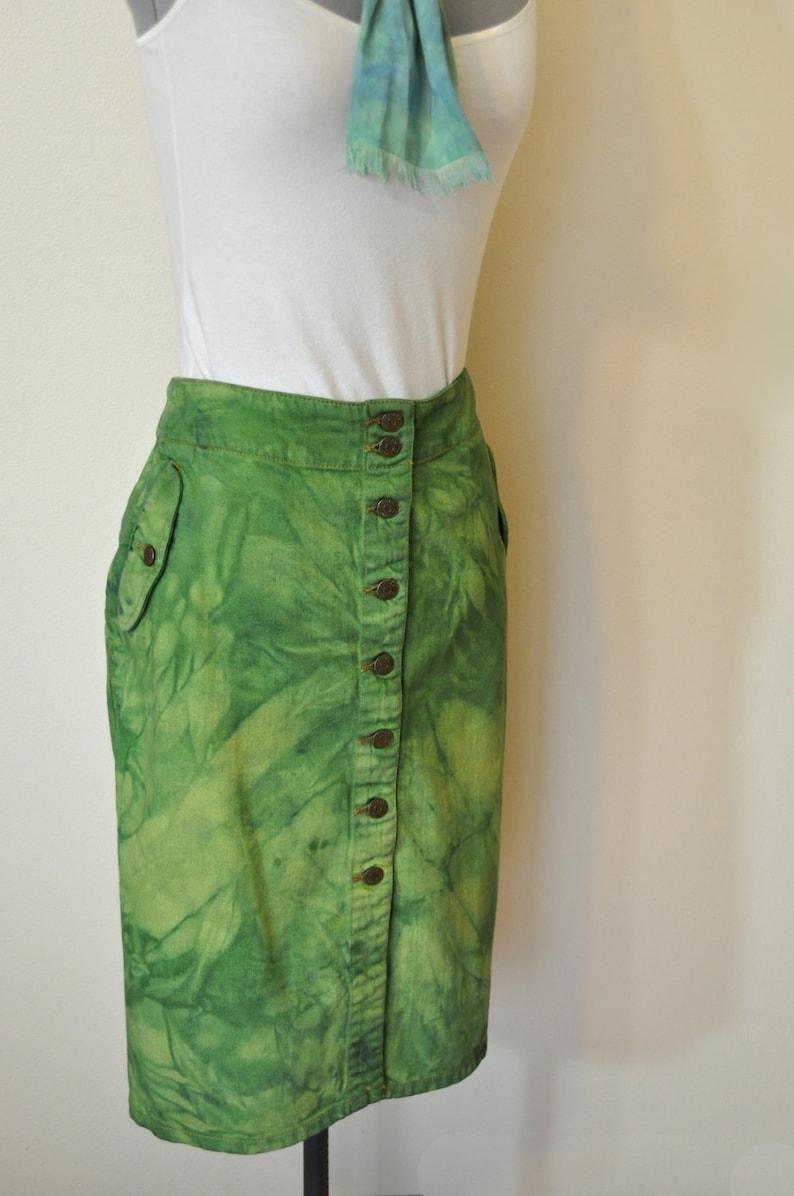 d60f43f2a Green Sz 12 Denim Jean SKIRT Kelly Lime Green Ralph Lauren | Etsy