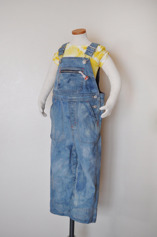 Vintage Overalls & Jumpsuits Blue Teal Kids 2T Bib Overall Pants - Green Dyed Gymboree Denim Overalls Childs Size 2 Year Toddler  25 Waist X 12 L $30.00 AT vintagedancer.com