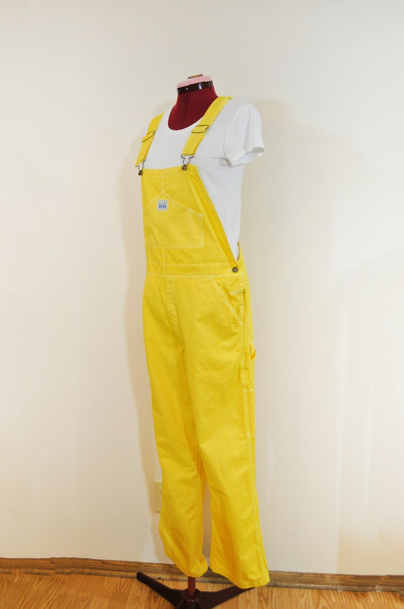 615887657d3 Yellow XL Cotton Bib OVERALL Pants Golden Yellow Dyed NEW