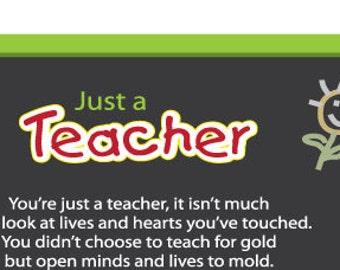 Just A Teacher Poem Download (Black Chalkboard)