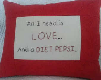Pepsi love pillow