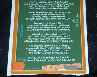 Just a Teacher Poem