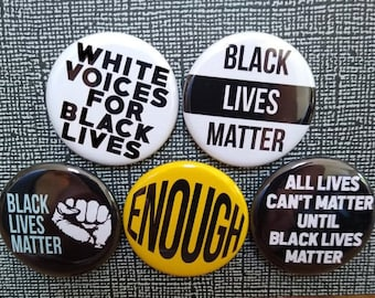 APOTIE Black Lives Matter Raised Fist Pins Black History Buttons Resistance Fist Pinback Buttons Badges Protest Pins 2.9 Inches Large