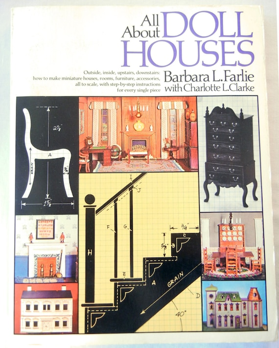 All About Doll Houses Book, Barbara L  Farlie, How-To Make Scale Miniature  Furniture, Houses, 1970s