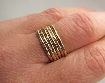 A Slim Gold Stacking Ring