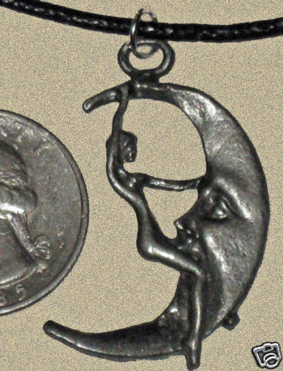 Girl on the Moon  Pewter Pendant Lot of 12