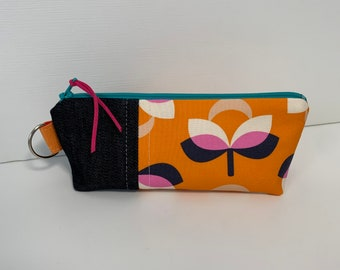 small cosmetic bag, cosmetic pouch, zipper make up bag, make up bag, vinyl lined bag, vinyl lined make up bag, vinyl lined pouch, makeup bag