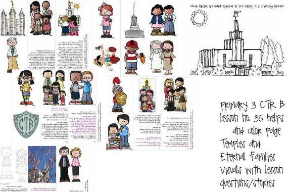 LDS primaria manual 3 CTR B lección 35 templos y familias | Etsy