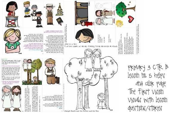 LDS primaria manual 3 CTR B Lección 5 la visión primera | Etsy