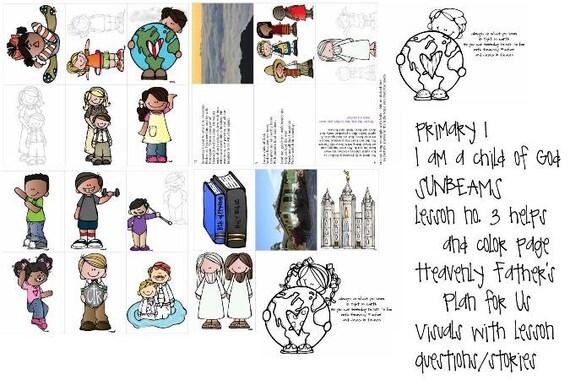 LDS rayos primarias manual 1 lección 3 plan del Padre | Etsy
