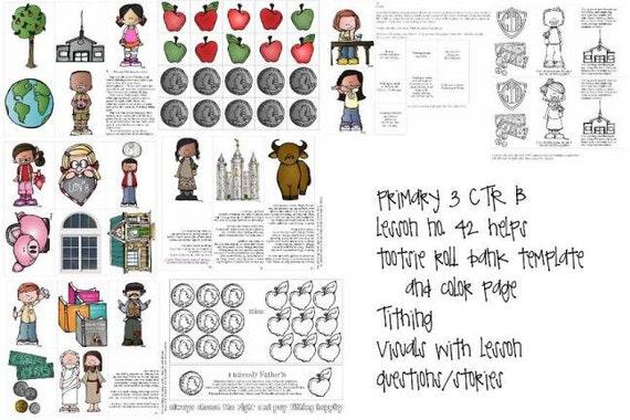 LDS primaria manual 3 CTR B lección 42 diezmo lección ayuda | Etsy
