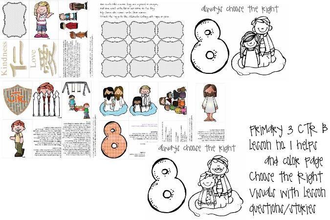 LDS primaria manual 3 lección CTR B 1 Elija la lección | Etsy