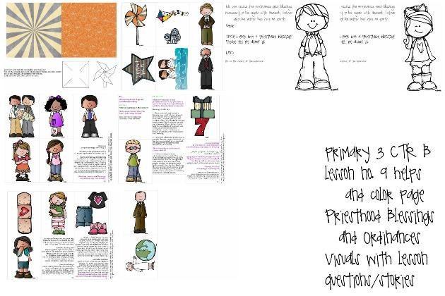 LDS primaria manual 3 CTR B Lección 9 las bendiciones del   Etsy