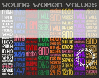 2 YW values - 11x14 poster size