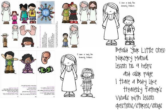 Lds Primary Nursery Manual Lesson 9 I Have A Body Like