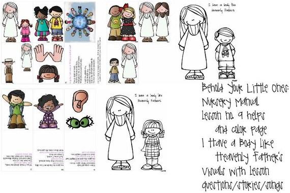 LDS primaria vivero Manual Lección 9 tengo un cuerpo como el | Etsy