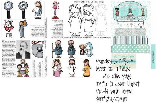 lección de CTR B de 3 del manual principal de la Sud 7 fe en   Etsy