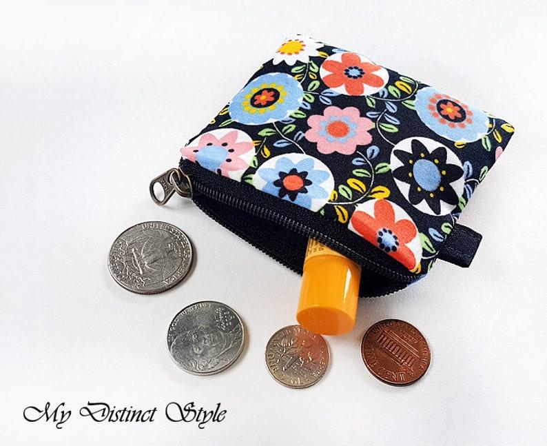 Mini Coin Purse   Fabric Coin Purse  Key ring pouch