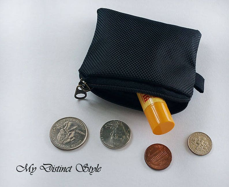 CHOOSE ONE  Mini Coin Purse  Textured Nylon Coin Purse  Fabric Coin Purse  Water Resistant Coin Purse