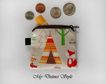 CHOOSE ONE / Mini Coin Purse  / Fabric Coin Purse / Key ring pouch