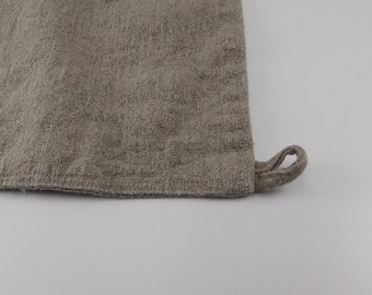 c66977d4ea Handmade Linen Bath Mat / Bath Rug with Loop --- Natural Dye Free