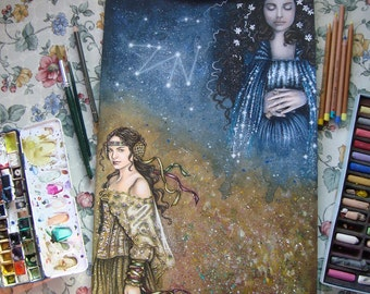 Please remember me - Padmé Amidala - Star Wars Traditional Art - Original Watercolor Painting