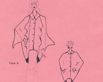 Vintage Sewing Pattern By Carol Lane Saber / Origami Jacket Or Shirt / Sizes S M L XL XXL 3XL / Unused