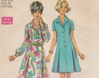 Simplicity 8659 / Vintage 60s Sewing Pattern / Dress / Bust 45