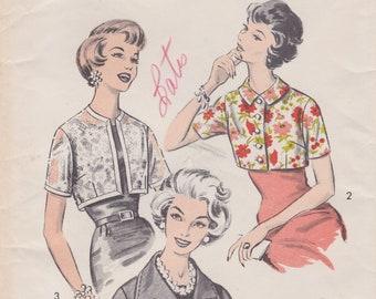 Advance 8878 / Vintage 1950s Sewing Pattern / Cropped Bolero Jacket / Size 12 Bust 32 / Unused