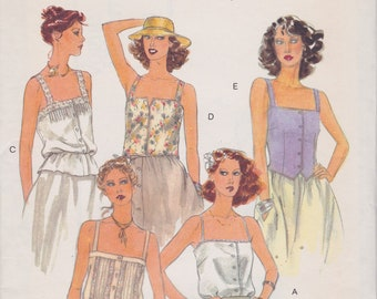 Vogue 7086 / Vintage Sewing Pattern / Blouse Shirt Top Camisole / Size 14 Bust 36 / Unused
