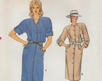 Vogue 8974 / Vintage Sewing Pattern / Raglan Sleeve Dress / Sizes 12 14 16