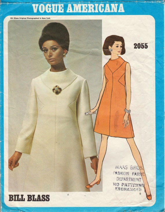 Vogue 2055 / Vintage Designer Sewing Pattern By Bill Blass / | Etsy