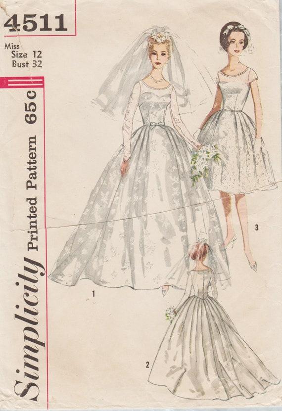 4511 / Vintage 1960er Jahre Simplicity Schnittmuster Kleid / | Etsy