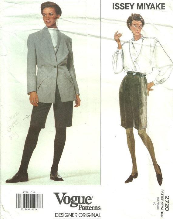 Vogue 2720 // Vintage Designer Sewing Pattern By Issey Miyake   Etsy