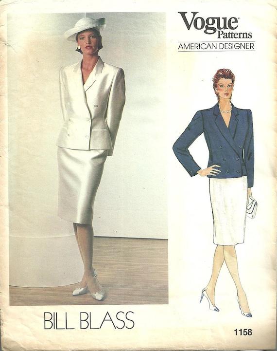 Vogue 1158 / Vintage Designer Sewing Pattern By Bill Blass / | Etsy