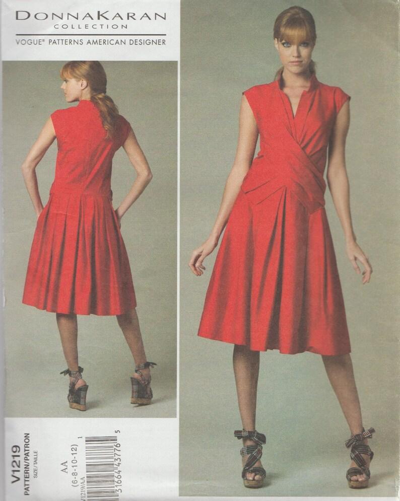 8 Diseñador Vestido 6 Tallas De 12 Moda Costura 1219 Donna Karan Patrón 10 PXiZuk