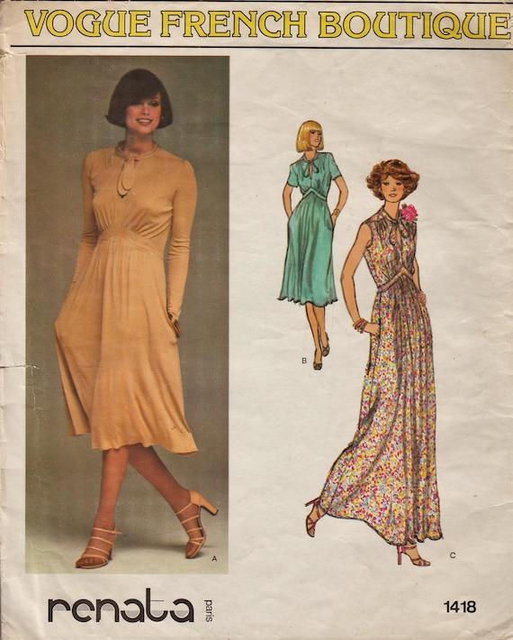 Mode 1418 / Vintage Designer Schnittmuster von Renata / Kleid | Etsy