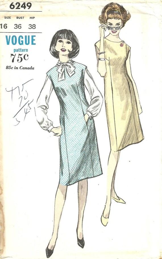 Patrón de costura moda años 60 Vintage / 6249 / puente blusa | Etsy