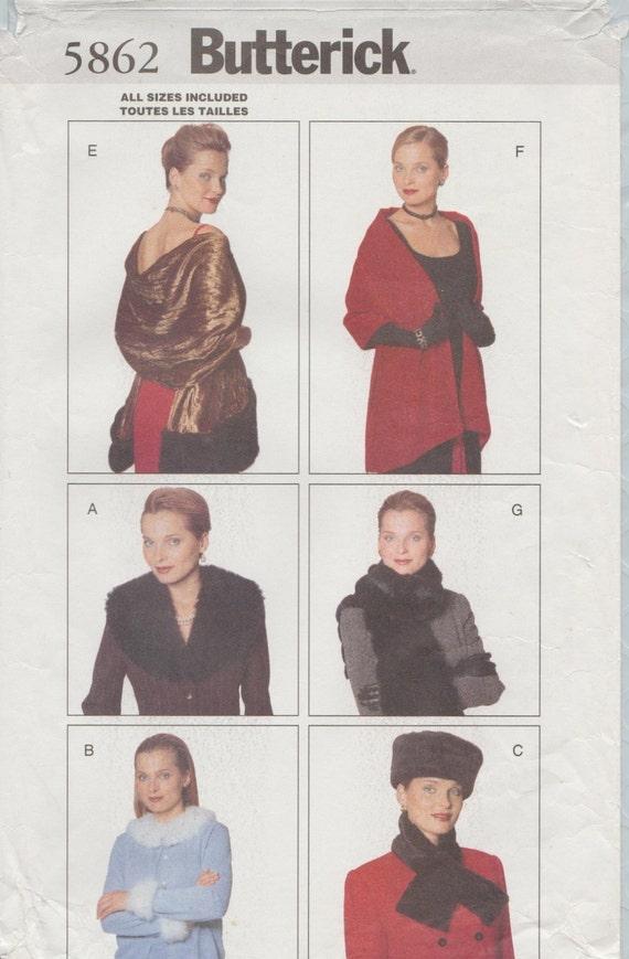 Accesorios de moda patrón de costura / noche abrigo bufanda | Etsy