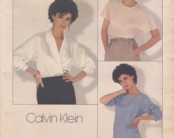 Vogue 1128 / Vintage Designer Sewing Pattern By Calvin Klein / Blouse / Size 10 / Unused